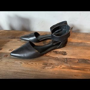 BCBGeneration Pointed Toe Ankle Strap Flats